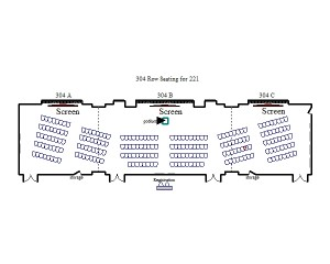304 Row Seating for 221