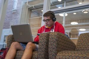 student on laptop