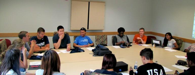 Student staff meeting