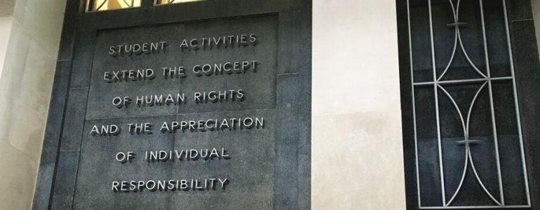 Student Union pillar